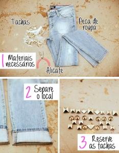 roupa,tachas rock e alicate