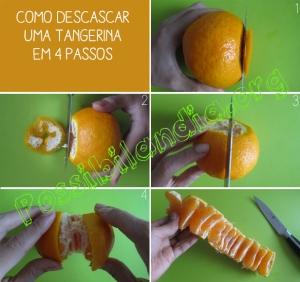 como descascar uma tangerina