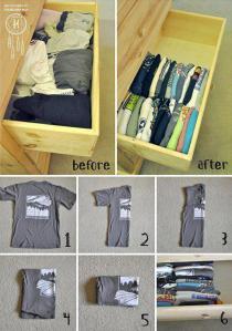 organize gavetas